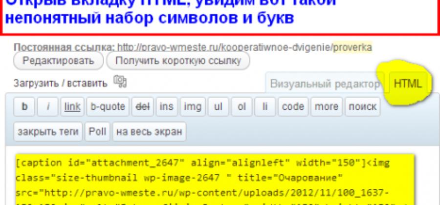 Код картинки  в WordPress