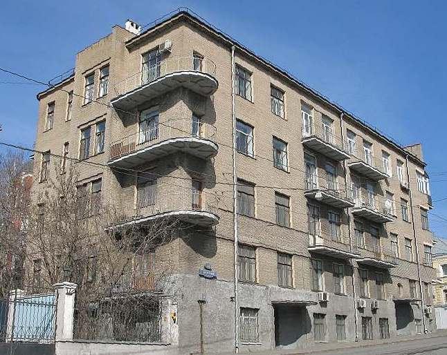Жилой дом построенный ЖСК Квартирохозяин. Арх. Г.Разумов,1929-30