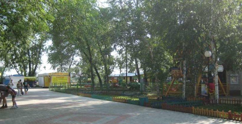 Городской сад г. Благовещенска на Амуре