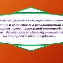 Кооперативы и  кооперация связывали свой идеал с обновлением всего общества