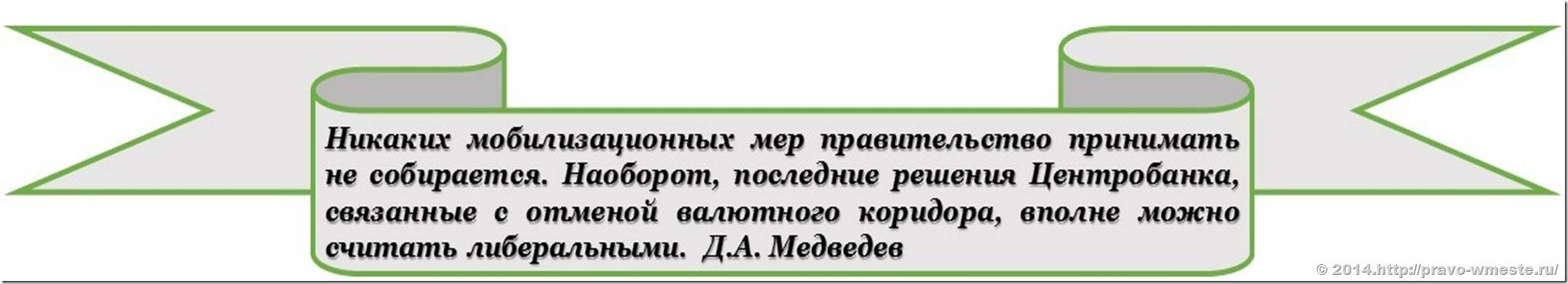 Медведев о мобилизационных мерах