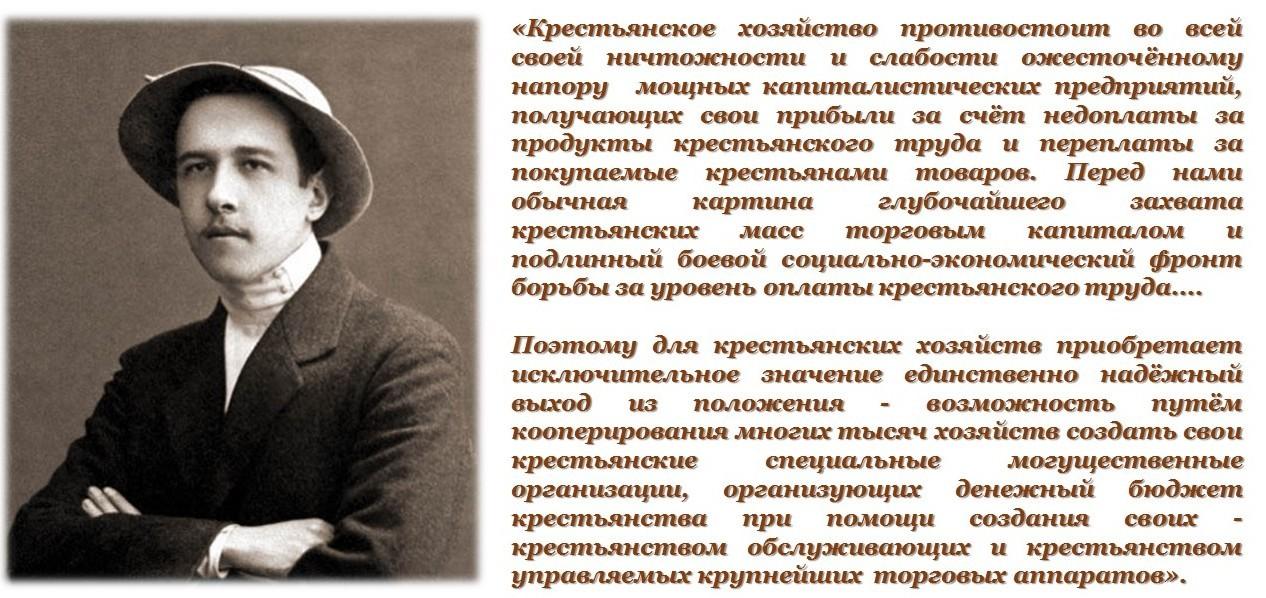 Чаянов А.В. Потребительская кооперация Северного Края