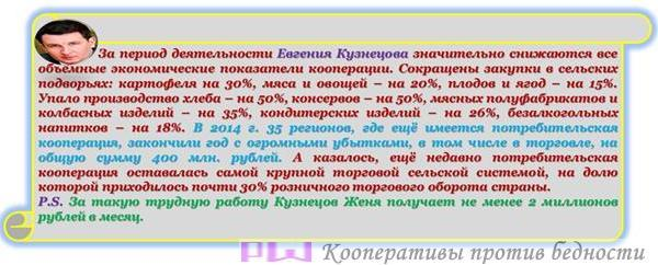 Потребительская кооперация под руководством Центросоюза находится в агонии
