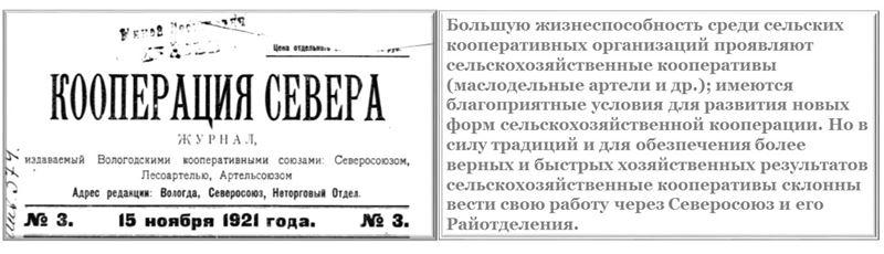 Как работали кооперативы и кооперация Северосоюза._cr