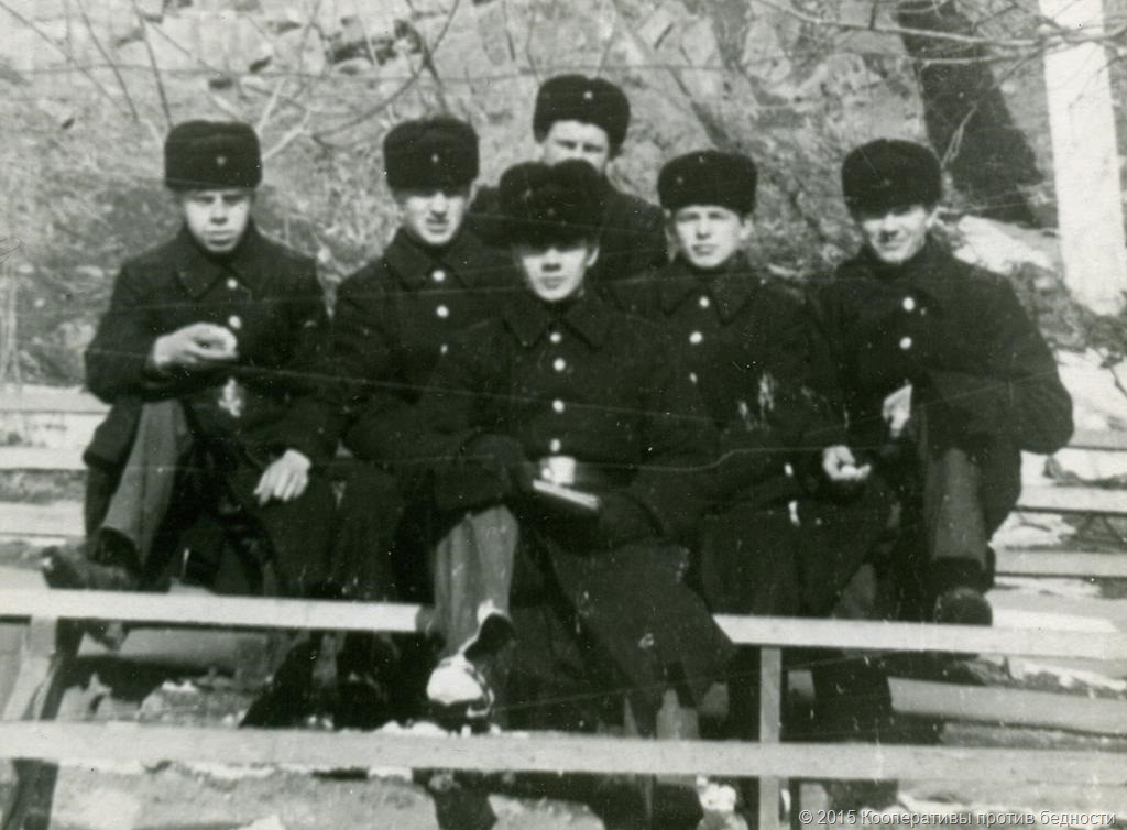 По центру В.Каверзин. Крайний слева Г. Якимов, справа от Каверзина В.Швец