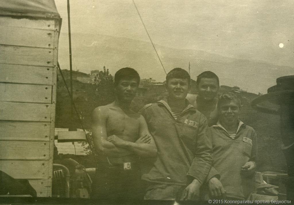 Фото на память о службе военно-морской