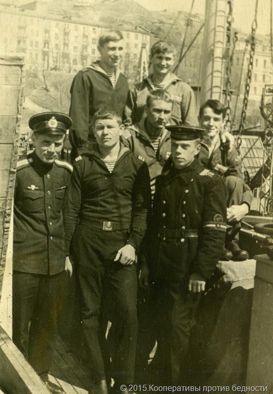 Апрель 1971. Хакимов, Стремяков, Якимов, Григорчевич, Артемьев, Пустовой, Шихалеев.