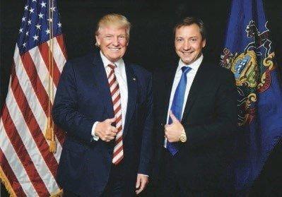 С Дональдом Трампом, ныне — президентом США
